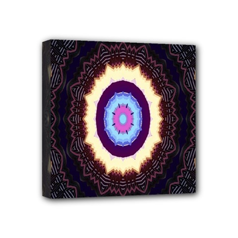 Mandala Art Design Pattern Ornament Flower Floral Mini Canvas 4  X 4