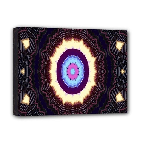 Mandala Art Design Pattern Ornament Flower Floral Deluxe Canvas 16  X 12
