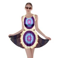 Mandala Art Design Pattern Ornament Flower Floral Skater Dress