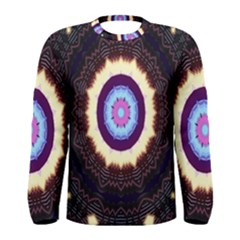 Mandala Art Design Pattern Ornament Flower Floral Men s Long Sleeve Tee