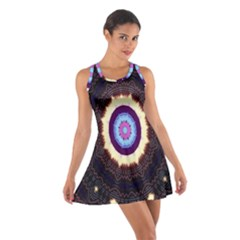Mandala Art Design Pattern Ornament Flower Floral Cotton Racerback Dress