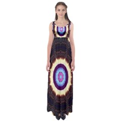 Mandala Art Design Pattern Ornament Flower Floral Empire Waist Maxi Dress