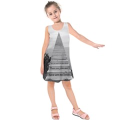 Steps to success follow Kids  Sleeveless Dress