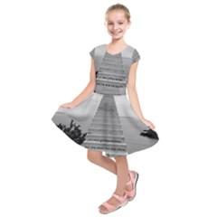 Steps to success follow Kids  Short Sleeve Dress