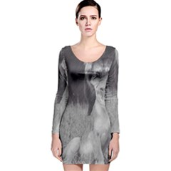 King and Queen of the jungle design  Long Sleeve Velvet Bodycon Dress