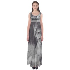 King and Queen of the jungle design  Empire Waist Maxi Dress