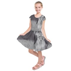 King And Queen Of The Jungle Design  Kids  Short Sleeve Dress