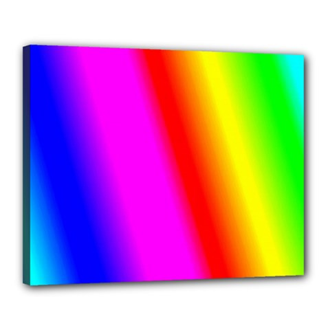 Multi Color Rainbow Background Canvas 20  X 16
