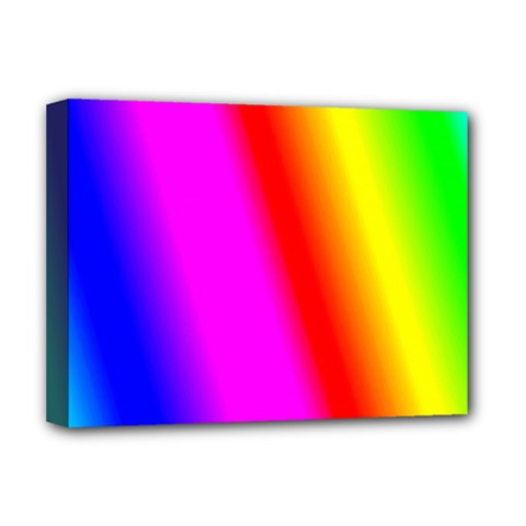 Multi Color Rainbow Background Deluxe Canvas 16  X 12