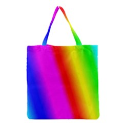 Multi Color Rainbow Background Grocery Tote Bag