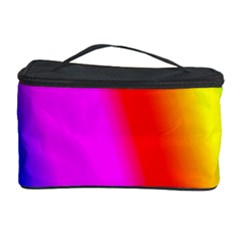 Multi Color Rainbow Background Cosmetic Storage Case