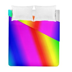 Multi Color Rainbow Background Duvet Cover Double Side (full/ Double Size)