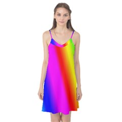 Multi Color Rainbow Background Camis Nightgown