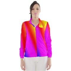 Multi Color Rainbow Background Wind Breaker (women)