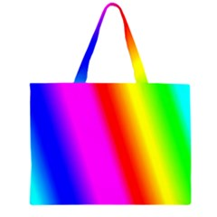 Multi Color Rainbow Background Large Tote Bag