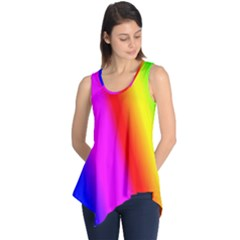Multi Color Rainbow Background Sleeveless Tunic