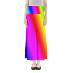Multi Color Rainbow Background Maxi Skirts