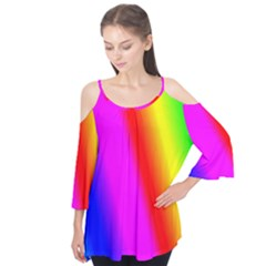 Multi Color Rainbow Background Flutter Tees