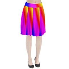 Multi Color Rainbow Background Pleated Skirt