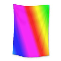 Multi Color Rainbow Background Small Tapestry