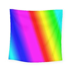 Multi Color Rainbow Background Square Tapestry (small)