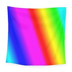 Multi Color Rainbow Background Square Tapestry (large)