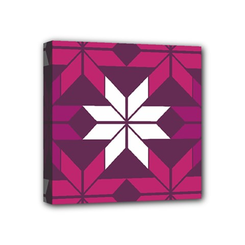 Pattern Background Texture Aztec Mini Canvas 4  X 4