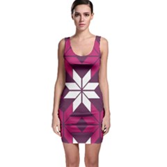 Pattern Background Texture Aztec Sleeveless Bodycon Dress