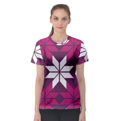 Pattern Background Texture Aztec Women s Sport Mesh Tee