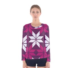Pattern Background Texture Aztec Women s Long Sleeve Tee