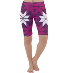 Pattern Background Texture Aztec Cropped Leggings