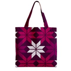 Pattern Background Texture Aztec Zipper Grocery Tote Bag