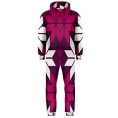 Pattern Background Texture Aztec Hooded Jumpsuit (men)