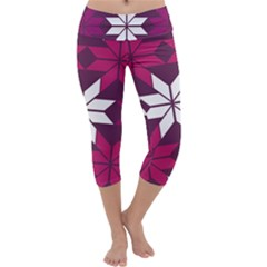 Pattern Background Texture Aztec Capri Yoga Leggings
