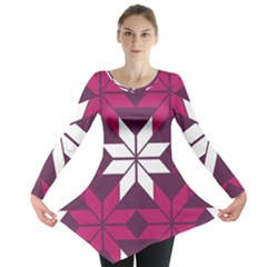 Pattern Background Texture Aztec Long Sleeve Tunic