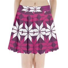 Pattern Background Texture Aztec Pleated Mini Skirt
