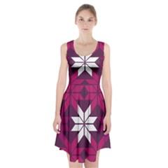 Pattern Background Texture Aztec Racerback Midi Dress