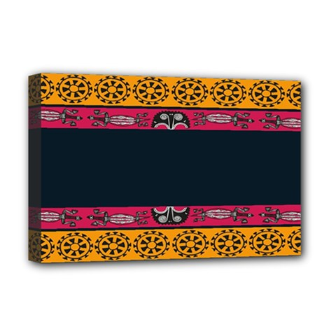 Pattern Ornaments Africa Safari Summer Graphic Deluxe Canvas 18  X 12
