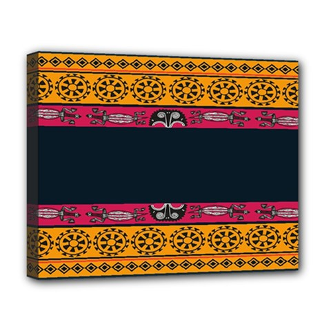 Pattern Ornaments Africa Safari Summer Graphic Deluxe Canvas 20  X 16