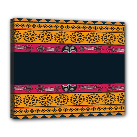 Pattern Ornaments Africa Safari Summer Graphic Deluxe Canvas 24  X 20