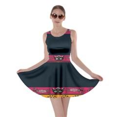 Pattern Ornaments Africa Safari Summer Graphic Skater Dress