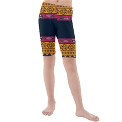 Pattern Ornaments Africa Safari Summer Graphic Kids  Mid Length Swim Shorts