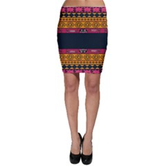 Pattern Ornaments Africa Safari Summer Graphic Bodycon Skirt