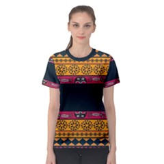 Pattern Ornaments Africa Safari Summer Graphic Women s Sport Mesh Tee