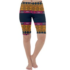 Pattern Ornaments Africa Safari Summer Graphic Cropped Leggings