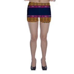 Pattern Ornaments Africa Safari Summer Graphic Skinny Shorts