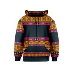 Pattern Ornaments Africa Safari Summer Graphic Kids  Zipper Hoodie
