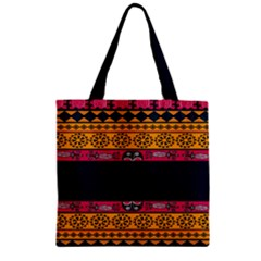 Pattern Ornaments Africa Safari Summer Graphic Zipper Grocery Tote Bag