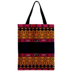 Pattern Ornaments Africa Safari Summer Graphic Zipper Classic Tote Bag