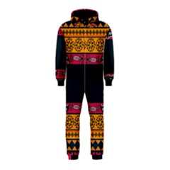 Pattern Ornaments Africa Safari Summer Graphic Hooded Jumpsuit (kids)